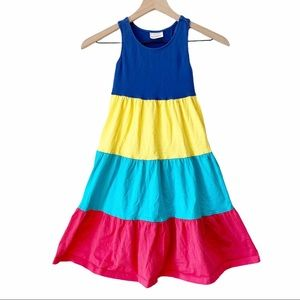Hanna Andersson Color Block Tiered Twirl Dress